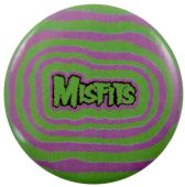 Misfits - 'Logo Pink & Green' Button Badge
